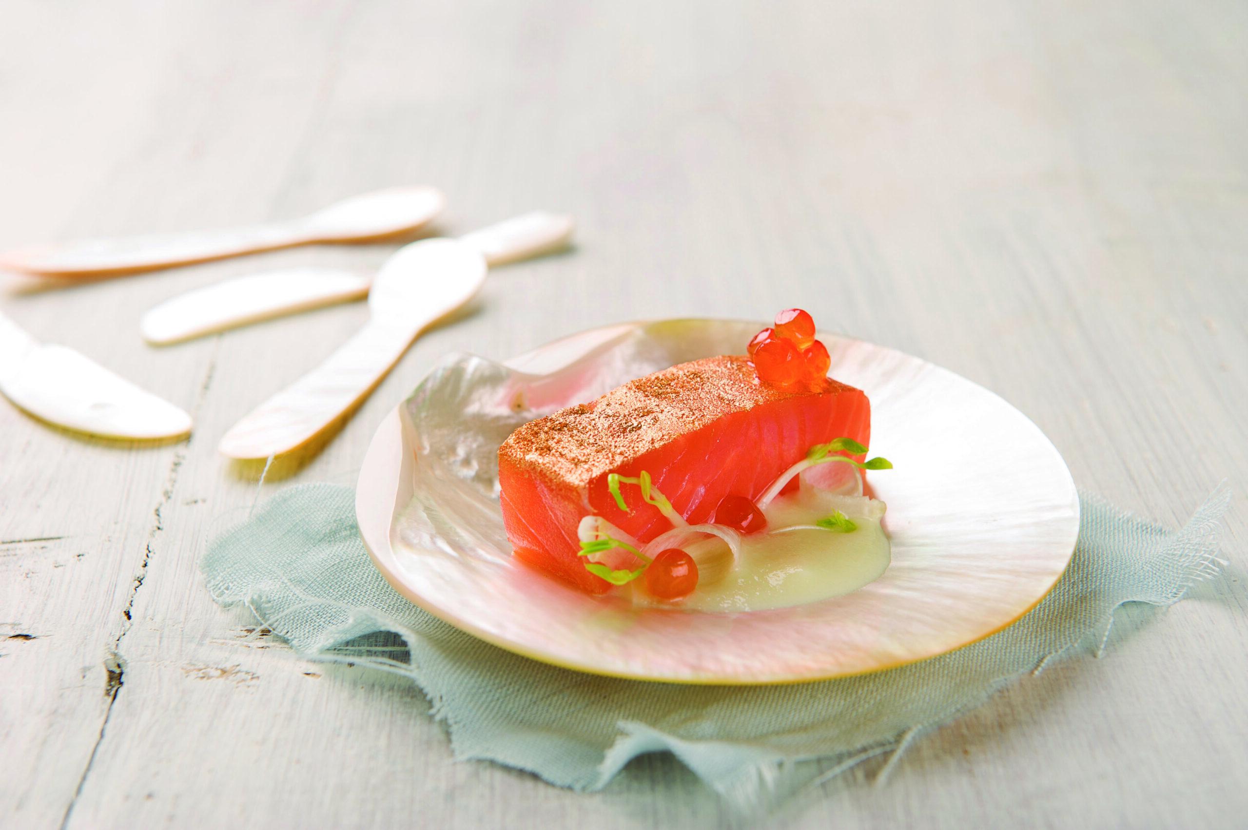 Con alga nori y wasabi